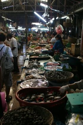Market in Siem Reap in Cambodia.