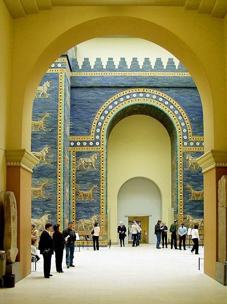Ishtar Gate in Babylon, Pergamon Museum © Raimond Spekking / CC-BY-SA-3.0 (via Wikimedia Commons) Please copy and paste the following link to go to the original image: http://commons.wikimedia.org/wiki/File:Pergamonmuseum_Babylon_Ischtar-Tor.jpg