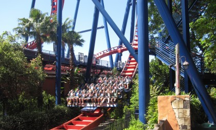 SheiKra, Busch Gardens, Tampa, Florida.