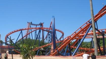 Roller coasters. Scorpion, Busch Gardens, Tampa, Florida.