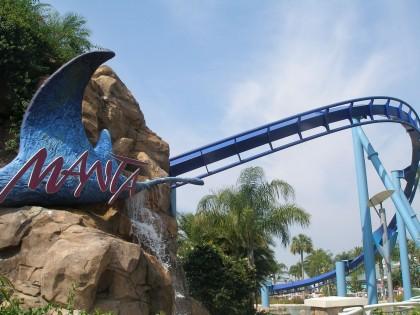 Roller coasters. Manta, SeaWorld Orlando, Florida