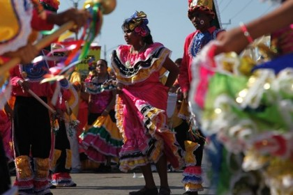 Comparsa at the Barranquilla Carnival. Photo: http//colombia.travel