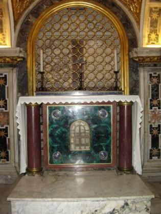 Saint Peters Basilica. back-constantine-memoria-clementine-chapel