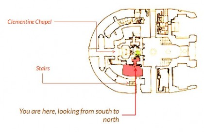 Saint Peters Basilica. floorplan-gaius-trophy-south-side-column