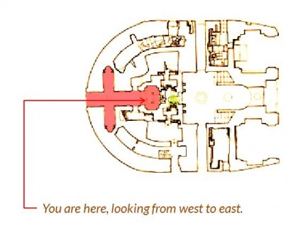 Saint Peters Basilica. floorplan-inside-clementine-chapel