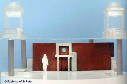 Saint Peters Basilica. model-gaius-trophy-front