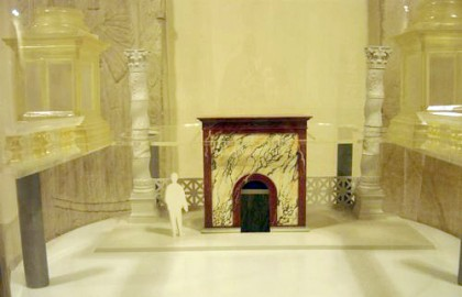Saint Peters Basilica. Model of the marble box of Constantine for the Tomb of St Peter.