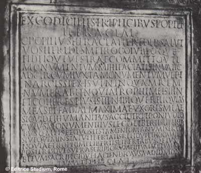 Tablet from Mausoleum A. From 'The Tomb of St. Peter' by Margherita Guarducci, Hawthorn. 1960