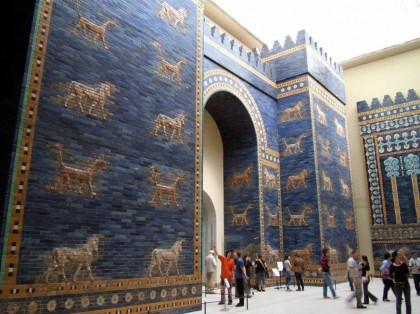 Ishtar Gate, Babylon at the Pergamon Museum in Berlin. Photo by Rictor Norton.