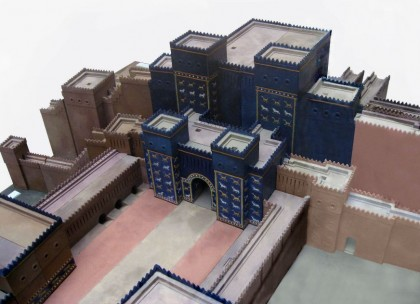 Ishtar Gate Babylon, model. Photo: Wikipedia.