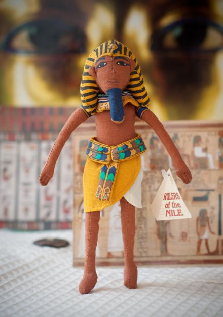 Travel souvenirs. Egyptian prince doll. Louvre Museum. Paris.