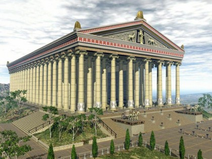 Temple of Artemis reconstruction. Photo: http://www.welcometohosanna.com