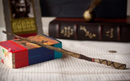 Travel souvenirs. Harry Potter Magic Wand. The Wizarding World of Harry Potter at Universal Studios, Orlando, USA.