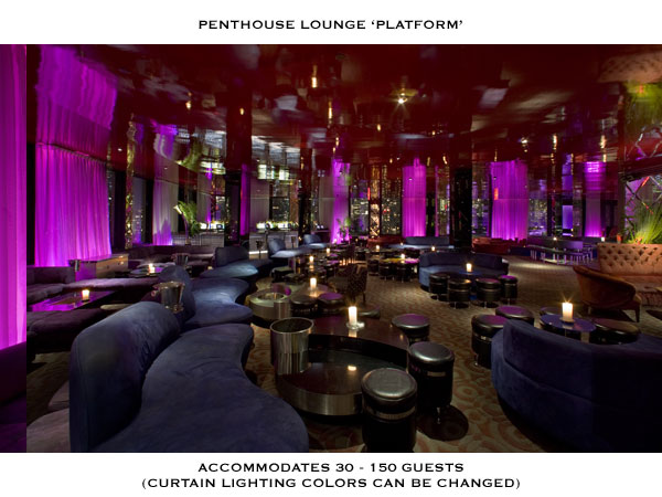 New York restaurants Penthouse Lounge. Photo: 230th Fifth website, New York.