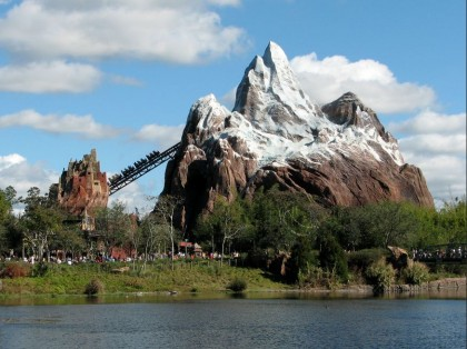 Roller coasters. Expedition Everest, Disney's Animal Kingdom, Orlando, Florida. Photo: Benjamin D. Esham.