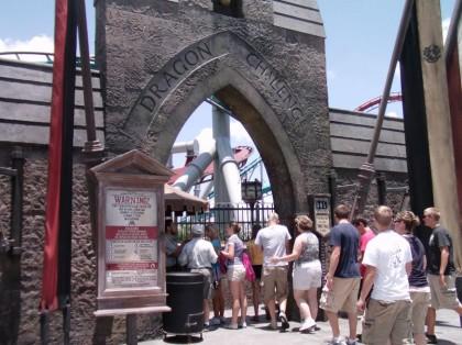 Roller coasters. Dragon Challenge, Wizarding World of Harry Potter, Islands of Adventure, Universal Orlando, Florida. Photo: Wikipedia.