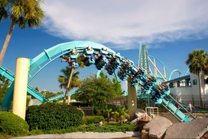 Roller coasters. Kraken, Sea World Orlando. Photo: David Bjorgen.