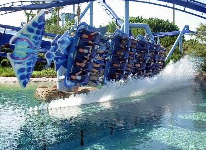 Manta, SeaWorld Orlando, Florida. Photo: Machristopher.