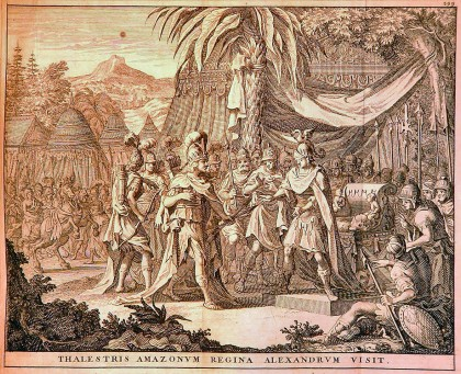 Thalestris, Queen of the Amazons, visits Alexander (1696). Photo: http://www.alexanderstomb.com