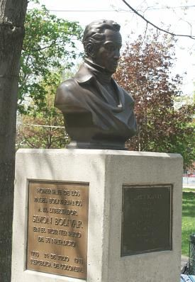 Bust of Simon Bolivar at Trinity Bellwoods Park, Toronto. Photo: http://www.boldts.net