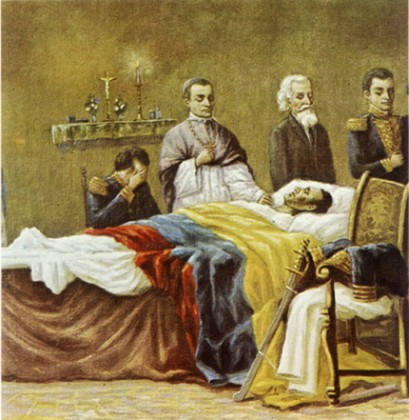 Death of Simon Bolivar. Source: http://elmundoaldia.blog.com.es