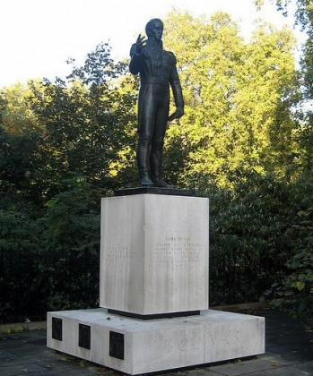 Statue of Simon Bolivar at Knightsbridge: Belgrave Square in London. Photo by wallyg.