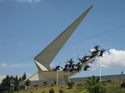 Simon Bolivar, Monument at the Pantano de Vargas in Boyacá, Colombia.