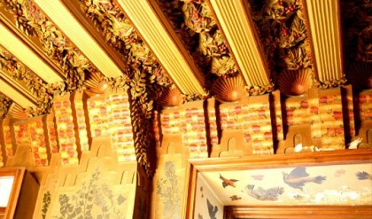 Ceiling detail. Photo: casavicens.es