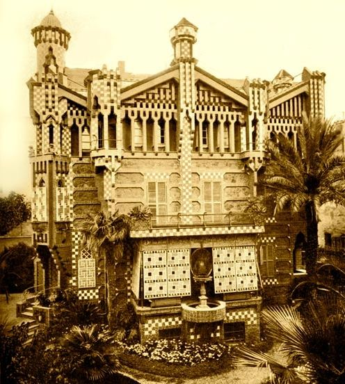 Casa Vicens, main fasade. Old picture. Photo: www.gaudidesigner.com/uk