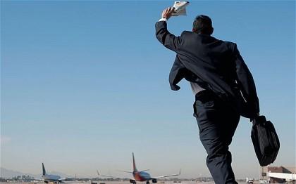 Travel fears. Missing a flight. Photo: www.telegraph.co.uk