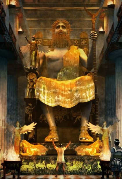 2012 Olympic Games. Rendition of the Statue of Zeus in Olimpia. Photo: http://lahorde.deviantart.com