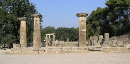 2012 Olympic Games. Temple of Hera in Olympia, Greece. Photo: Matěj Baťha, Wikipedia.
