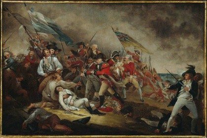 Fourth of July. The Death of General Warren at the Battle of Bunker Hill by John Trumbull. Photo: Wikipedia.