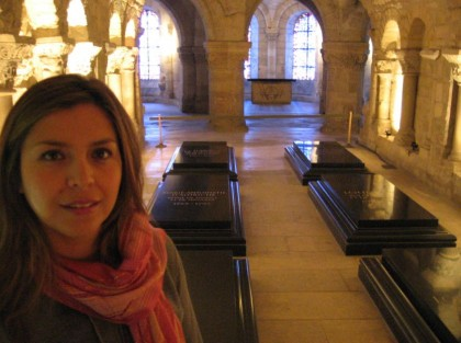 French Revolution in 1789. Tombs of Louis XVI and Marie Antoinette in Basilica of Saint Denis.