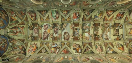 Sistine Chapel ceiling, 360 tour. Source: /www.vatican.va