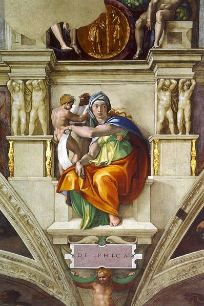 Sistine Chapel ceiling. Delphic Sibyl. Photo: Wikipedia.
