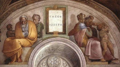 Sistine Chapel ceiling. Jacob, Joseph. Photo: Wikipedia.