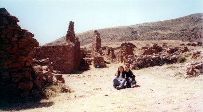 Travel partner. Me and my friend Magdalena in Pikillaqta, Cusco, Perú.