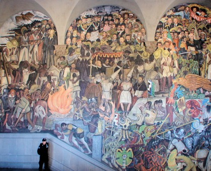 Dead simple mexico city day 3 cultural travel guide for Diego rivera day of the dead mural