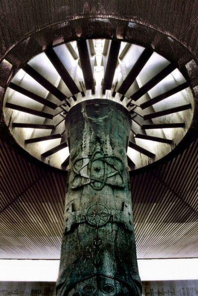 Mexico City. Museo Nacional de Antropología, El Paraguas. Photo: Wikipedia, Yo, I.