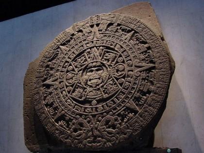 Mexico City. Aztec Calendar Stone. Photo: Wikipedia.
