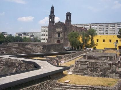Mexico City, Plaza de las Tres Culturas. Photo: Wikimedia Commons, Gengiskanhg.