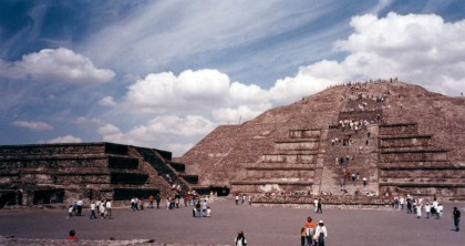 Mexico City, Teotihuacán, Pyramid of the Moon.