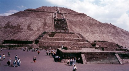 Mexico City, Teotihuacán, Pyramid of the Sun.