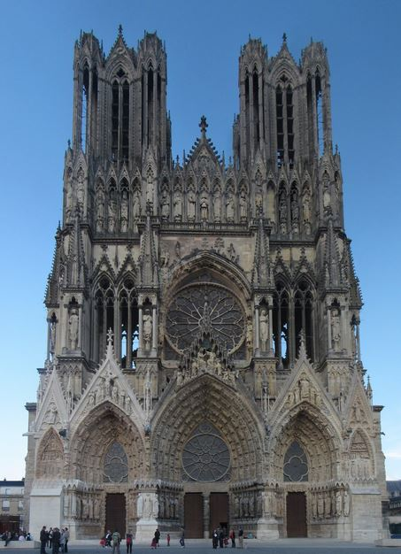 Gothic Cathedral Reims Facade Photo Wikipedia Traveler100 Please Copy And