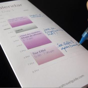 Paris Itinerary 3 Days Calendar