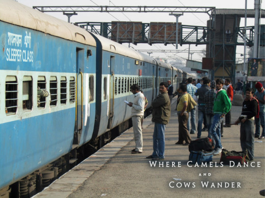 Trip to India. Typical scene at a train platform. Photo: Adam Taylor Smith
