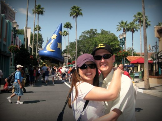 Travel with your spouse. Hollywood Studios, Orlando, Florida, USA.
