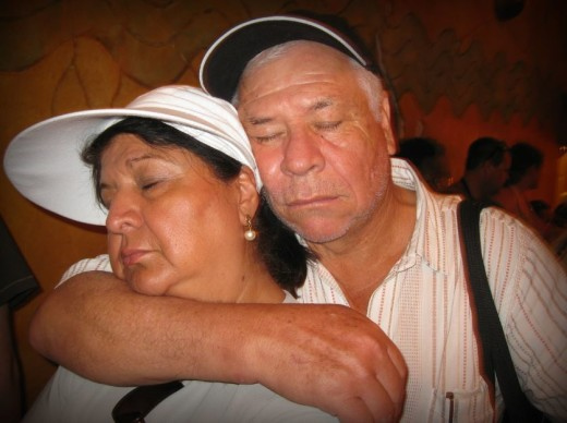 Travel with your spouse. What do you do if you get too tired to continue?