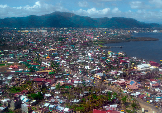 Philippines, Tacloban from the air, two months after the storm.
